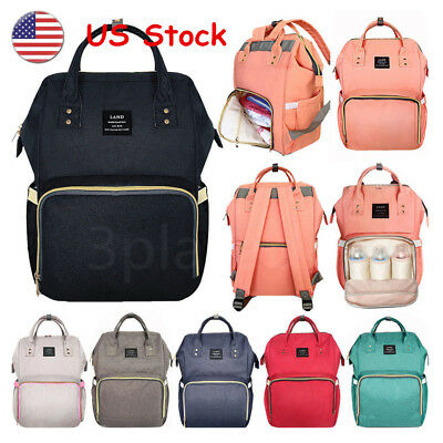 US LAND Large Capacity Mummy Changing Bag Baby Nappy Diaper Maternity Travel Bag