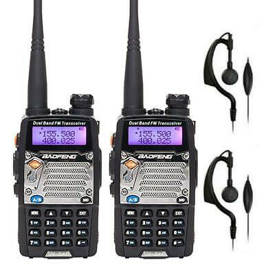 2x BaoFeng UV-5XP 8W V/UHF 400-520MHz Dual Band Two Way Radio Ham Walkie Talkie