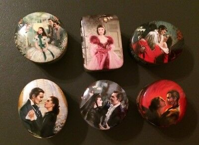 Lot of Six (6) Gone With The Wind Music Boxes