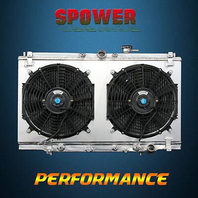 Aluminum Radiator+Fan Shroud For Honda Accord 94-97 Prelude 97-01 Aruca CL 97-99