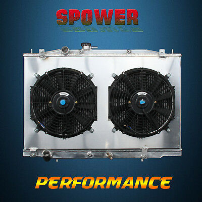 2-Row/CORE Aluminum Radiator + Fan Shroud For Acura TL V6 3.2L J32A3 MT 04-06