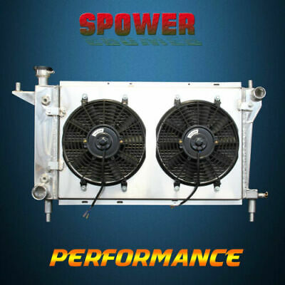 Aluminum Radiator+Fan Shroud For Ford Mustang GT GTS SVT Cobra V6 V8 AT MT 94-96