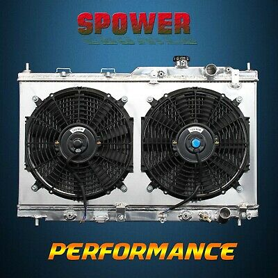 Aluminum Radiator+Fan Shroud For Acura Integra L4 AT MT 94-01 B18B1 B18C1 B18C5