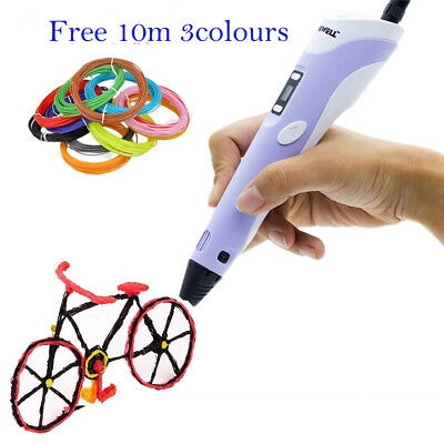 3D LCD Printing Pen 2nd Drawing Arts Printer Crafting Doodle Modeling PLA/ABS