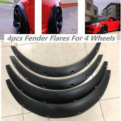 """3.5""""/90mm 4X Universal Flexible Car Fender Flares Extra Wide Body Wheel Arches"""