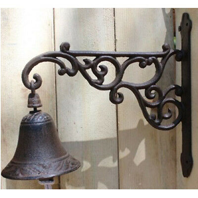 Vintage Rustic Cast Iron Door Chime Ring Bell Country Farmhouse Wall Decor Sign