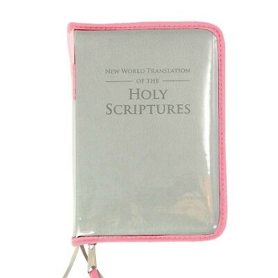 Transparent+Pink zipper cover for New World Translation Jehovah's Witnesses - B8