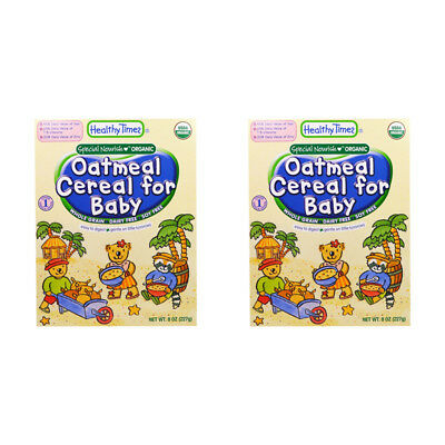 2X Healthy Times Oatmeal Cereal For Babies Whole Grain Feeding Organic Daily