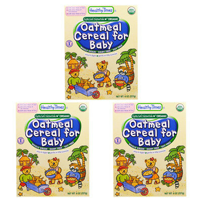 3X Healthy Times Oatmeal Cereal For Babies Whole Grain Feeding Organic Daily