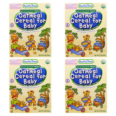 4X Healthy Times Oatmeal Cereal For Babies Whole Grain Feeding Organic Daily