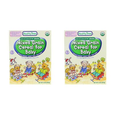 2X Healthy Times Organic Mixed Grain Cereal For Baby Feeding Whole Grain Care