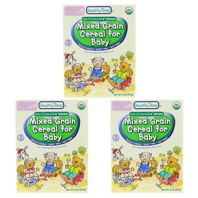 3X Healthy Times Organic Mixed Grain Cereal For Baby Feeding Whole Grain Care