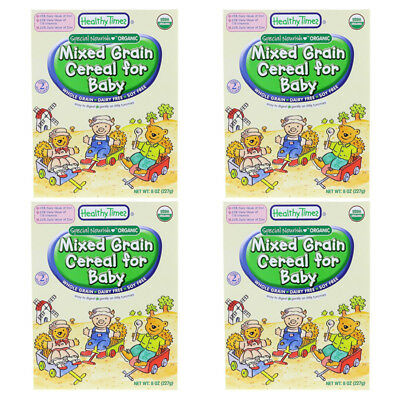 4X Healthy Times Organic Mixed Grain Cereal For Baby Feeding Whole Grain Care