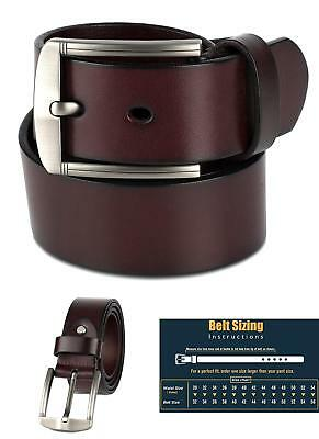 Scott Allan Mens Full Grain 100/% Leather Belt