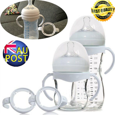 2/5pcs Baby Feeding Bottle Cup Handles For Wide Neck Bottles Easy Grip AS
