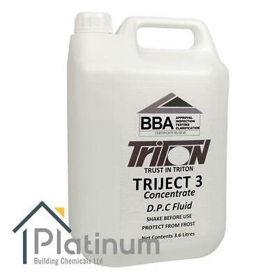 Triject 3 Dpc Damp Proof Proofing Chemical Injection Fluid - 3.6L Concentrate