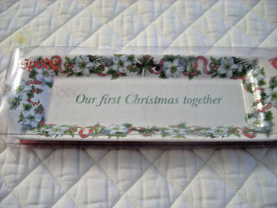 SPODE CRACKER MINT TRAY Our First Christmas Together Holiday NIB Porcelain GIFT