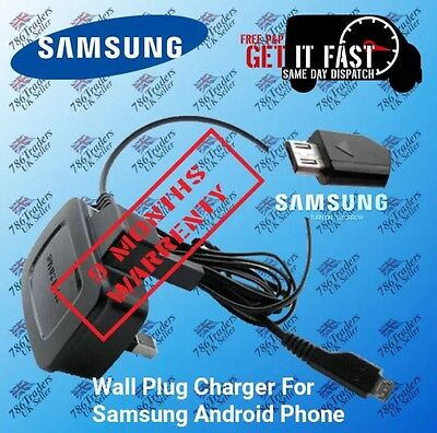 100% New Samsung Wire Genuine Ce Approved 3 Pin Uk Mains Wall Plug Charger Uk