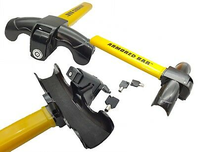 Anti-Theft Car/Van Security Rotary Steering Wheel Lock-High Visibility UK SELLER