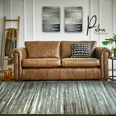 Brown Grey Floor Rugs Modern Contemporary Dining Living Rooms Area Carpets Rug