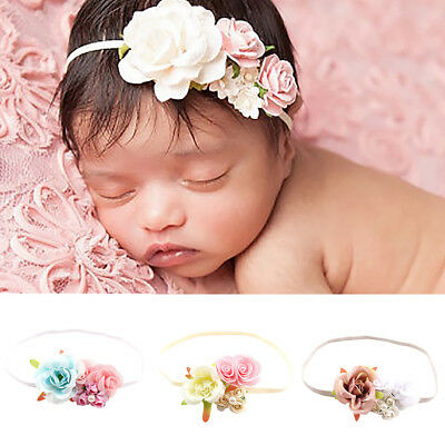 Ne_ Newborn Baby Girl's Flower Headband Photography Prop Beach Holiday Hair Ba