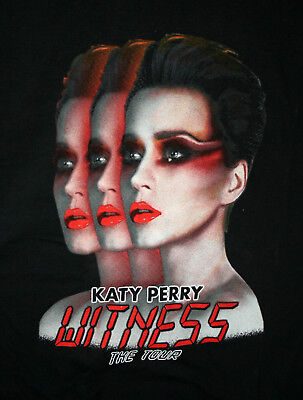 Katy Perry Witness Music Tour 2017 Concert T-Shirt New Men's Medium Red Letters