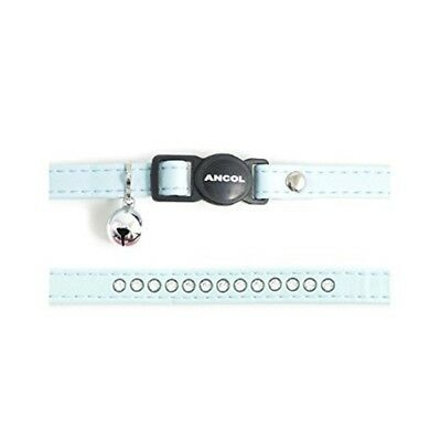 Safety Buckle Cat Collar Deluxe Jewel Baby Blue (pack Of 3) - Ancol Diamante