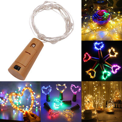 20 LED Wine Bottle Copper Wire Fairy String light bulb Cork Festival Party Decor