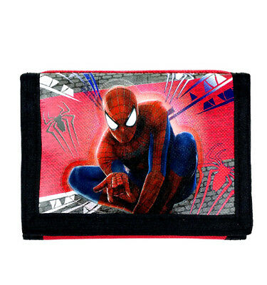Amazing Spiderman Red/Black Trifold Wallet By Marvel For Boys/Kids