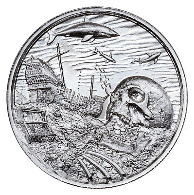 2018 Privateer Davy Jones Locker Ultra High Relief 2 oz Silver Round BU SKU53762