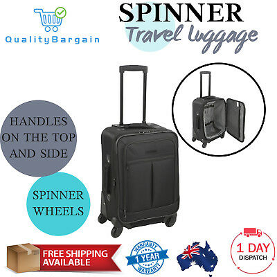 Spinner Luggage Durable Sturdy Travel Suitcase Trolley Roll Wheel Carry On Cabin