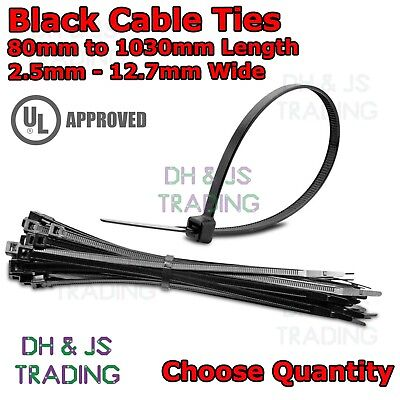 High Quality Black Cable Ties - Black Nylon Zip Tie Wrap All Sizes & Quantities