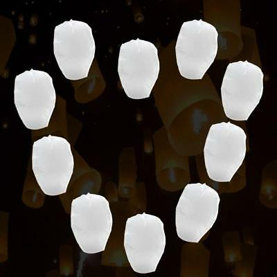 Domire 10 Pcs White Flying Sky Lanterns, Traditional Chinese Glowing Lanterns by