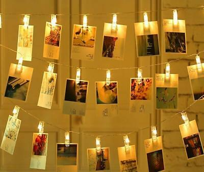 OrchidBest LED Photo Clip String Lights Battery Powered for Hanging Photos...