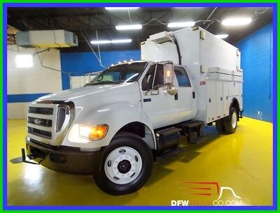 2009 Ford F750 White Used Utility