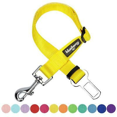 Blueberry Pet Classic Solid Color Adjustable Dog Seat Belt Tether for Dogs...