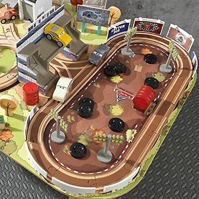 Cars Track Set And Table Race 3 Radiator Springs Toy Ages Piece Wooden Playset