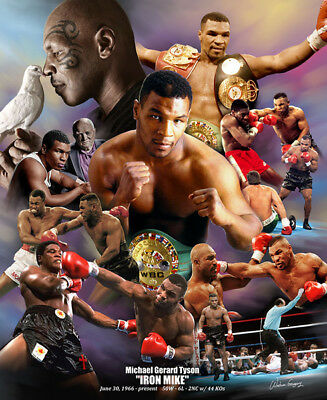 Mike Tyson IRON MIKE Boxing Legend Commemorative Wall Art POSTER Print
