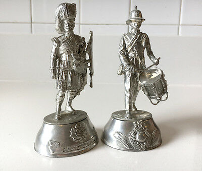 2 CHARLES STADDEN Figures PEWTER SCOTS GUARDS & Royal Marines Military Soldiers