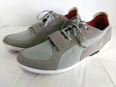 sports shoes e7323 decaa PUMA FERRARI MEN Sneakers Size 11 Driving Power 2 Low SF Gray Suede Leather