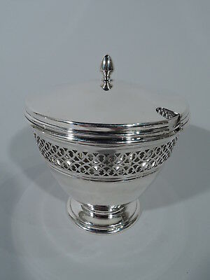 Tiffany Jam Pot - 18423 - Edwardian Pierced - American Sterling Silver - 1943/45