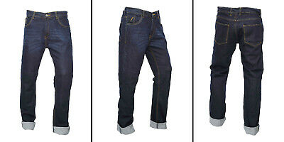 MOTORCYCLE JEANS PANTS REINFORCED WITH DuPont™ KEVLAR® ENGINEERED BLUE