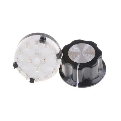 RS26 Rotary Channel Selector Switch 2 Pole Position 6 Selectable with Knob ^G