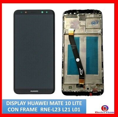TOUCH SCREEN VETRO + LCD DISPLAY FRAME Per HUAWEI MATE 10 LITE RNE L21 L01 NERO