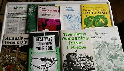 Lot of 9 Vintage  Gardening Books/Guides/Pamphlets