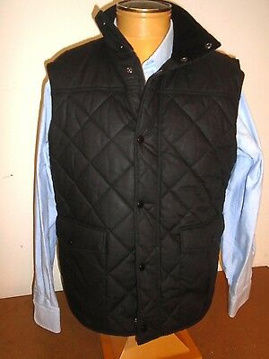 Barbour Boxley Wax Cotton Insulated Gilet Vest NWT Large $279 Black