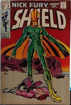 Nick Fury Agent of Shield #8 Marvel Comics 1969 Silver Age Frank Springer Cover