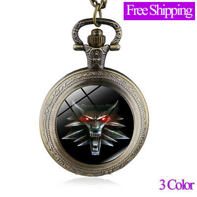Cool Roaring Lion The Pocket Watch Vintage Antique Fob Watch Design Men Watch