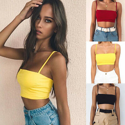 Women Casual Solid Tank Tops Vest Blouse Sexy Sleeveless Crop Top Shirt Hot
