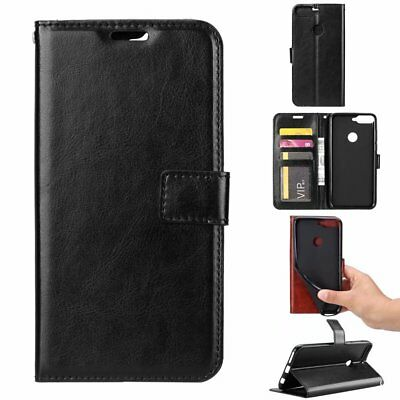 For Huawei Y6 2018 Magnetic Flip PU Leather Soft Wallet Card Case Stand Cover